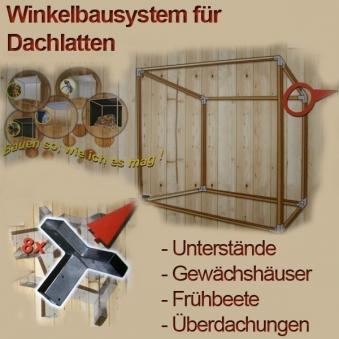 Kaminholzregal Geräteschuppen Gewächshaus Winkelset Bild 1