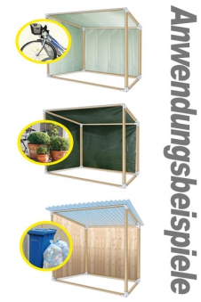 Kaminholzregal Geräteschuppen Gewächshaus Winkelset Bild 4