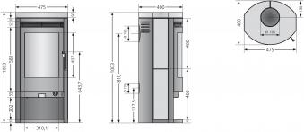 Kaminofen / Dauerbrandofen Justus Baltrum D schwarz Kalkstein 5 kW Bild 2