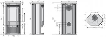 Kaminofen / Dauerbrandofen Justus Usedom 5 D Sandstein schwarz 5kW Bild 2