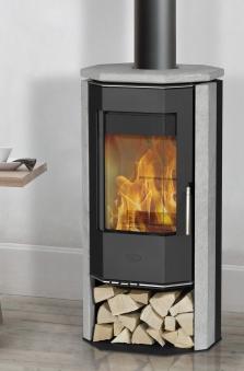 Kaminofen Fireplace Karthago Novo 2 Speckstein raumluftunabhängig 5kW Bild 1