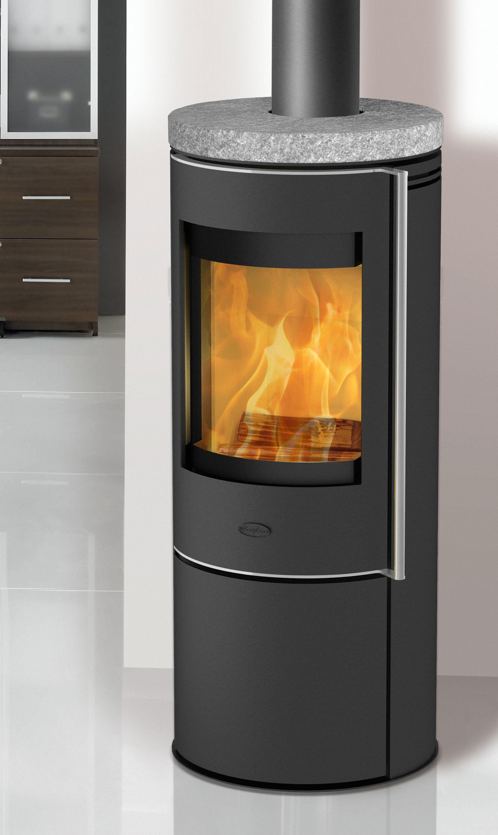 Kaminofen Fireplace Orando Speckstein raumluftunabhängig 5kW Bild 1