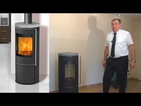 Kaminofen Fireplace Orando Speckstein raumluftunabhängig 5kW Video Screenshot 2067