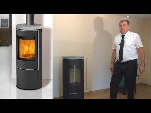 Kaminofen Fireplace Perondi RLU Glas raumluftunabhängig 5kW DIBt Video Screenshot 2068