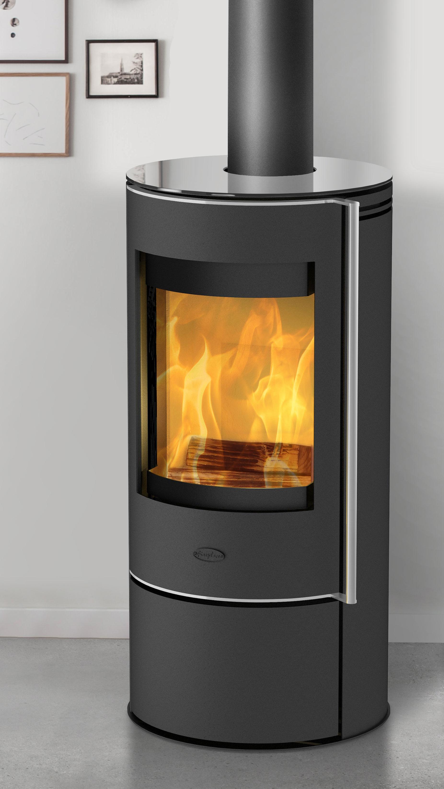 Turbo Kaminofen Fireplace Rondale Glas raumluftunabhängig 5kW - bei SW75
