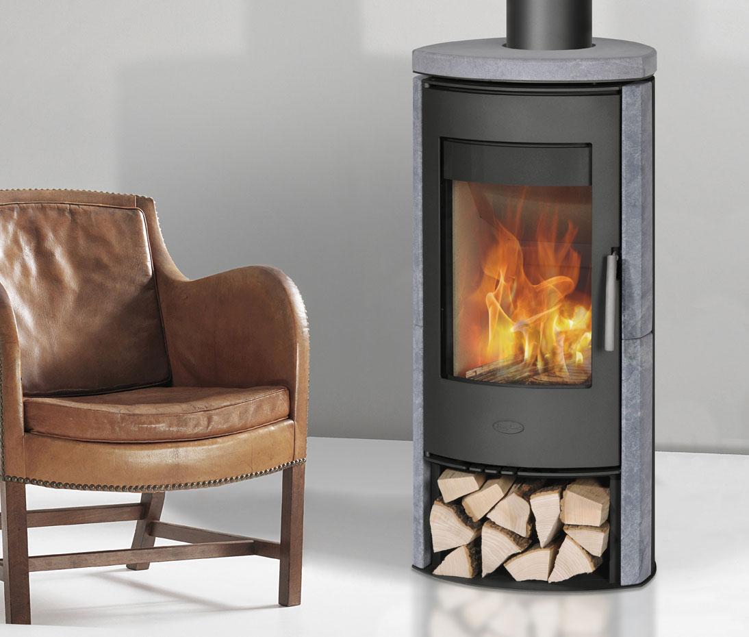 Kaminofen Fireplace Zanzibar raumluftunabhängig Speckstein schwarz 5kW Bild 3