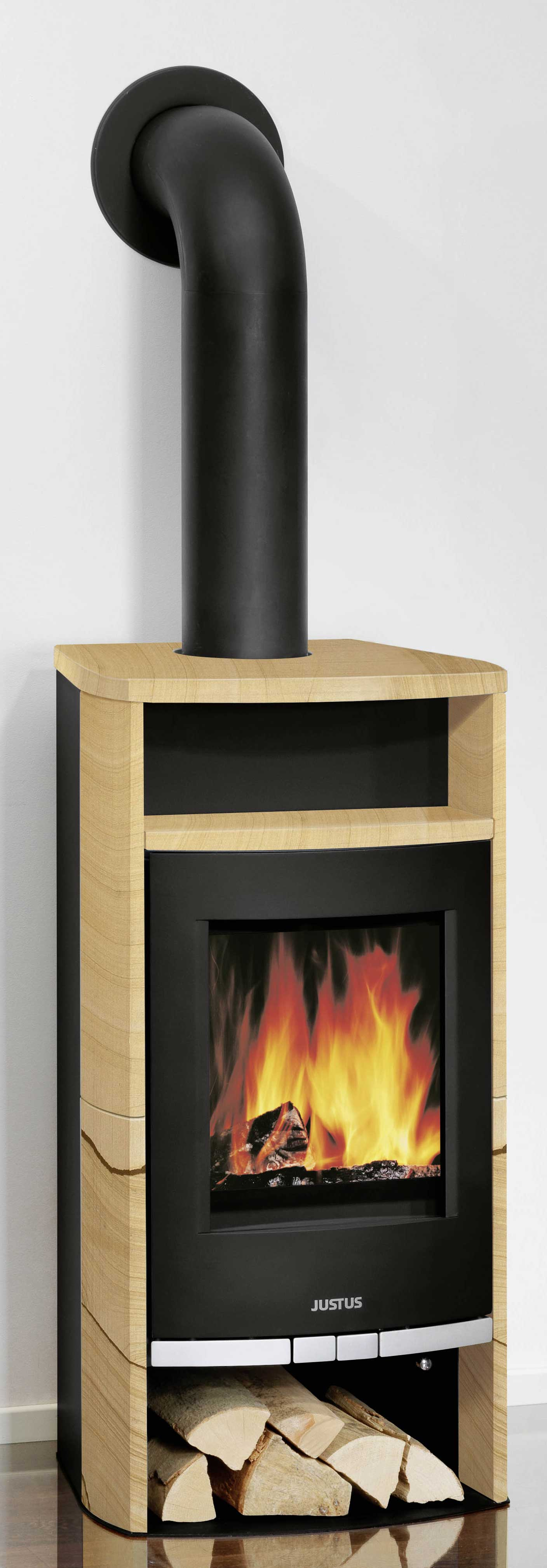 kaminofen frisco raumluftunabh ngig sandstein dauerbrand 5. Black Bedroom Furniture Sets. Home Design Ideas