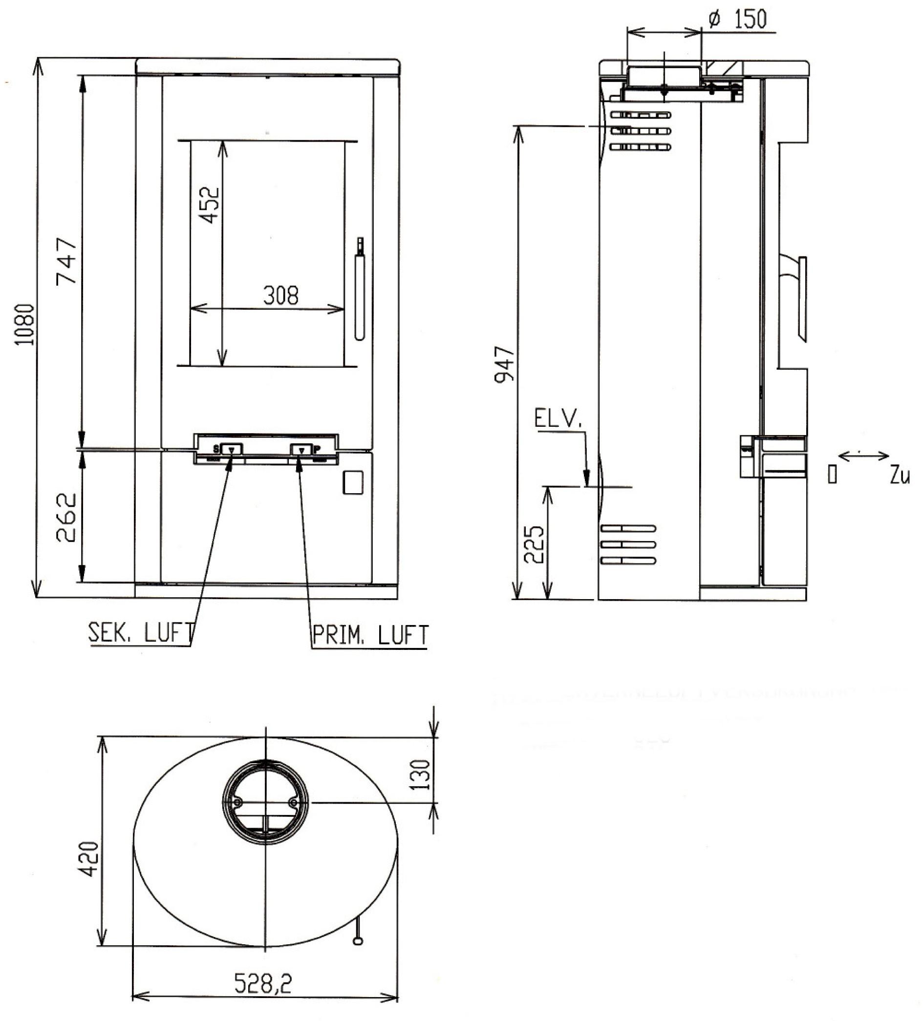Kaminofen Justus Austin 5 Raumluftunabhangig Stahl Schwarz 5kw Bei