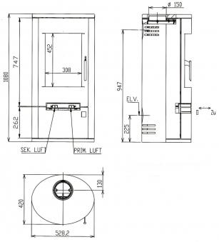 Kaminofen Justus Austin 5 raumluftunabhängig Stahl schwarz 5kW Bild 2