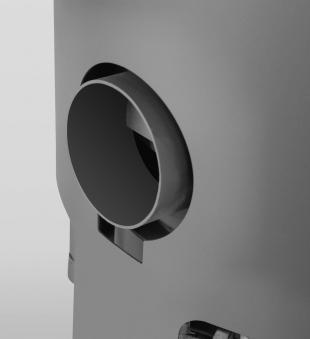 Kaminofen Justus Austin 5 raumluftunabhängig schwarz Speckstein 5kW Bild 4
