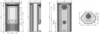 Kaminofen Justus Usedom 5 Sandstein schwarz raumluftunabhängig 5 kW Bild 2