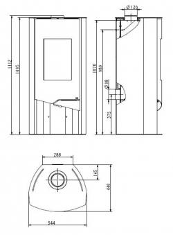 Kaminofen Wamsler N-Line Sandstein raumluftunabhängig 5 KW Bild 2