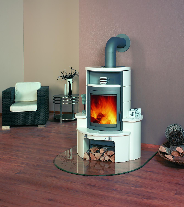 Dauerbrandofen Hark Avenso ECOplus creme-weiß raumluftunabhängig 6 kW Bild 1