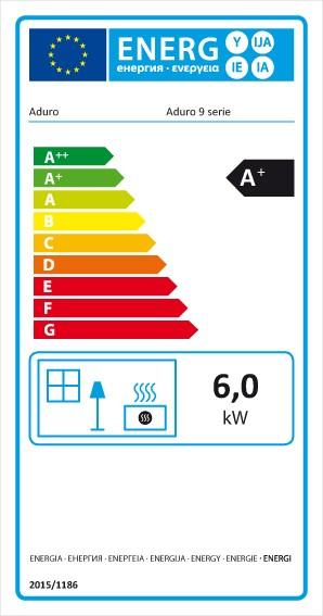 Kaminofen Aduro 9.7 schwarz Stahl Wärmespeichersteine 6kW Bild 3