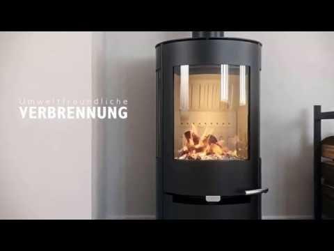 Kaminofen Aduro 9.7 schwarz Stahl Wärmespeichersteine 6kW Video Screenshot 1557