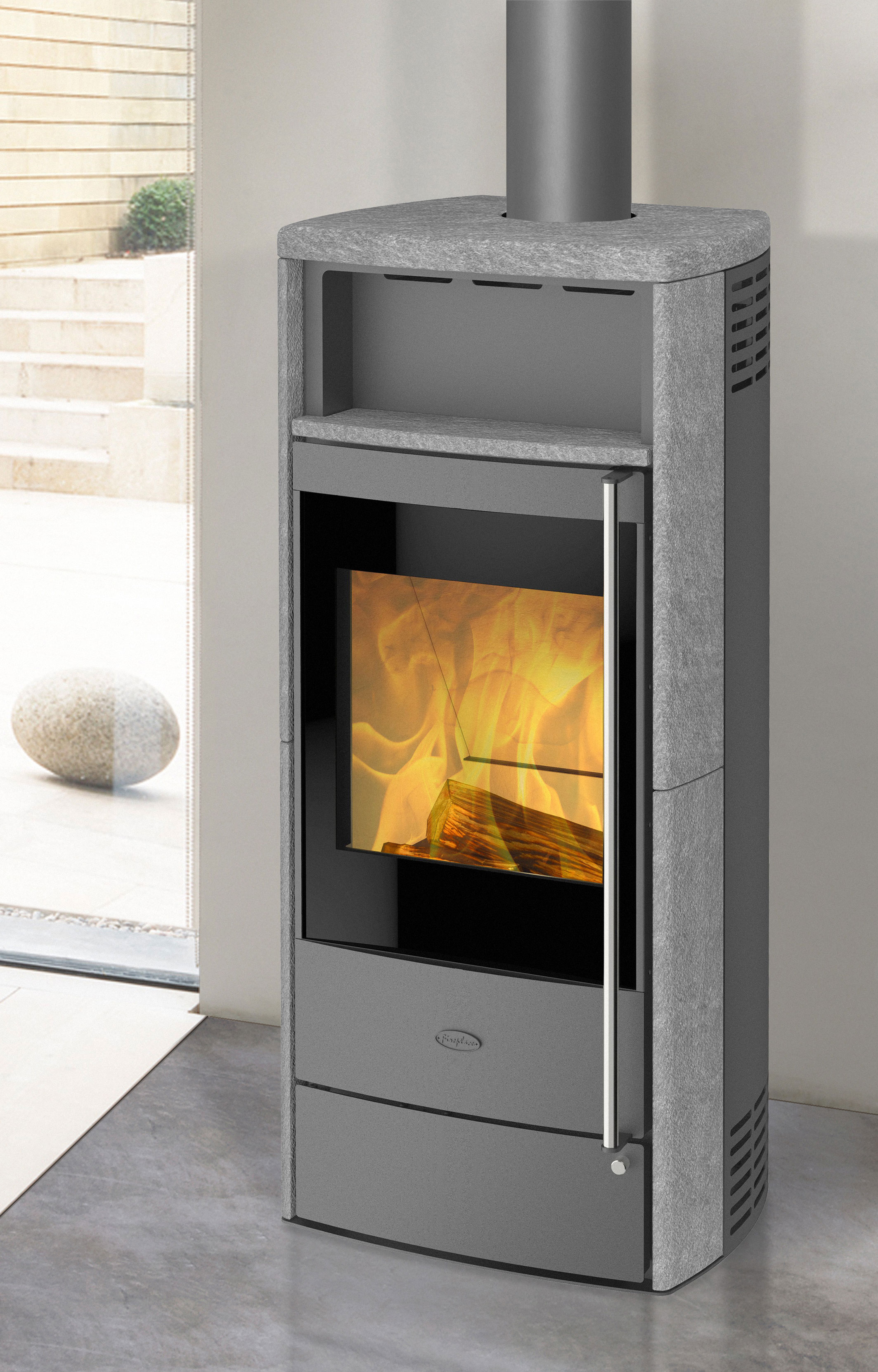 Gut bekannt Kaminofen Dauerbrandofen Fireplace Teramo raumluftunabhängig 6kW OA42