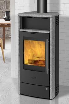 Kaminofen Dauerbrandofen Fireplace Torino Speckstein 6kW Bild 1