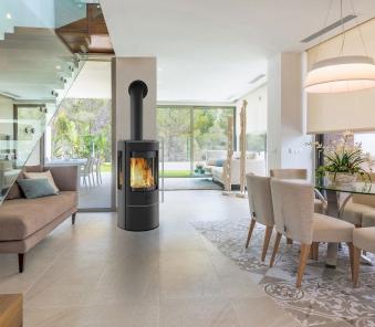 Kaminofen Fireplace Amarant raumluftunabhängig 3 Scheiben 6kW Bild 3