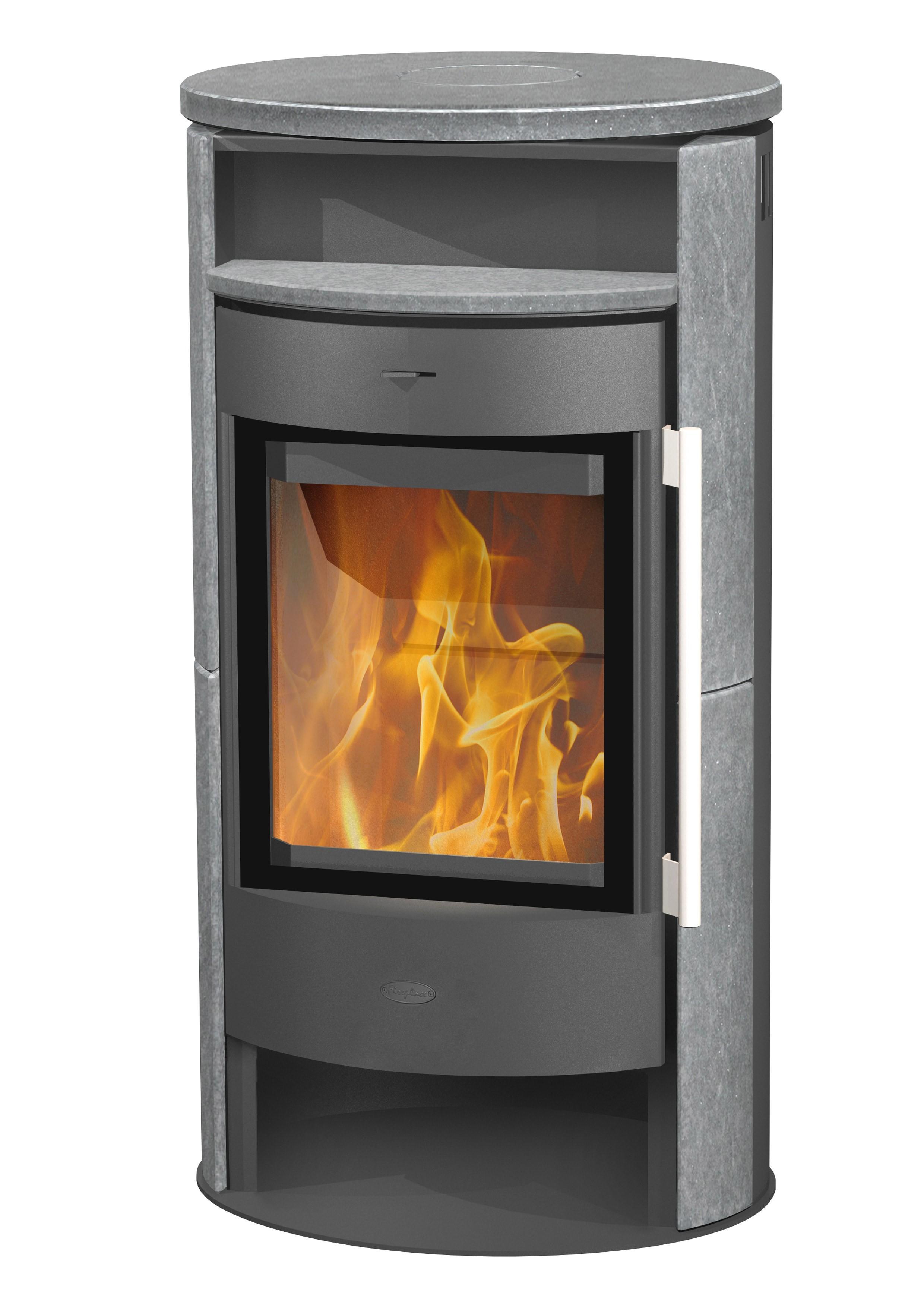 kaminofen fireplace durango grau speckstein 6kw bei. Black Bedroom Furniture Sets. Home Design Ideas