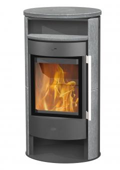 Kaminofen Fireplace Durango grau Speckstein 6kW Bild 1