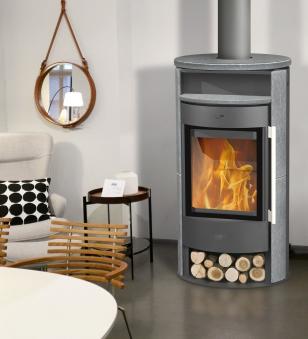 Kaminofen Fireplace Durango grau Speckstein 6kW Bild 2