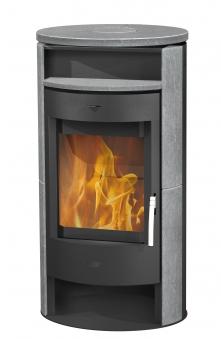 Kaminofen Fireplace Jakarta schwarz Speckstein 6kW Bild 1