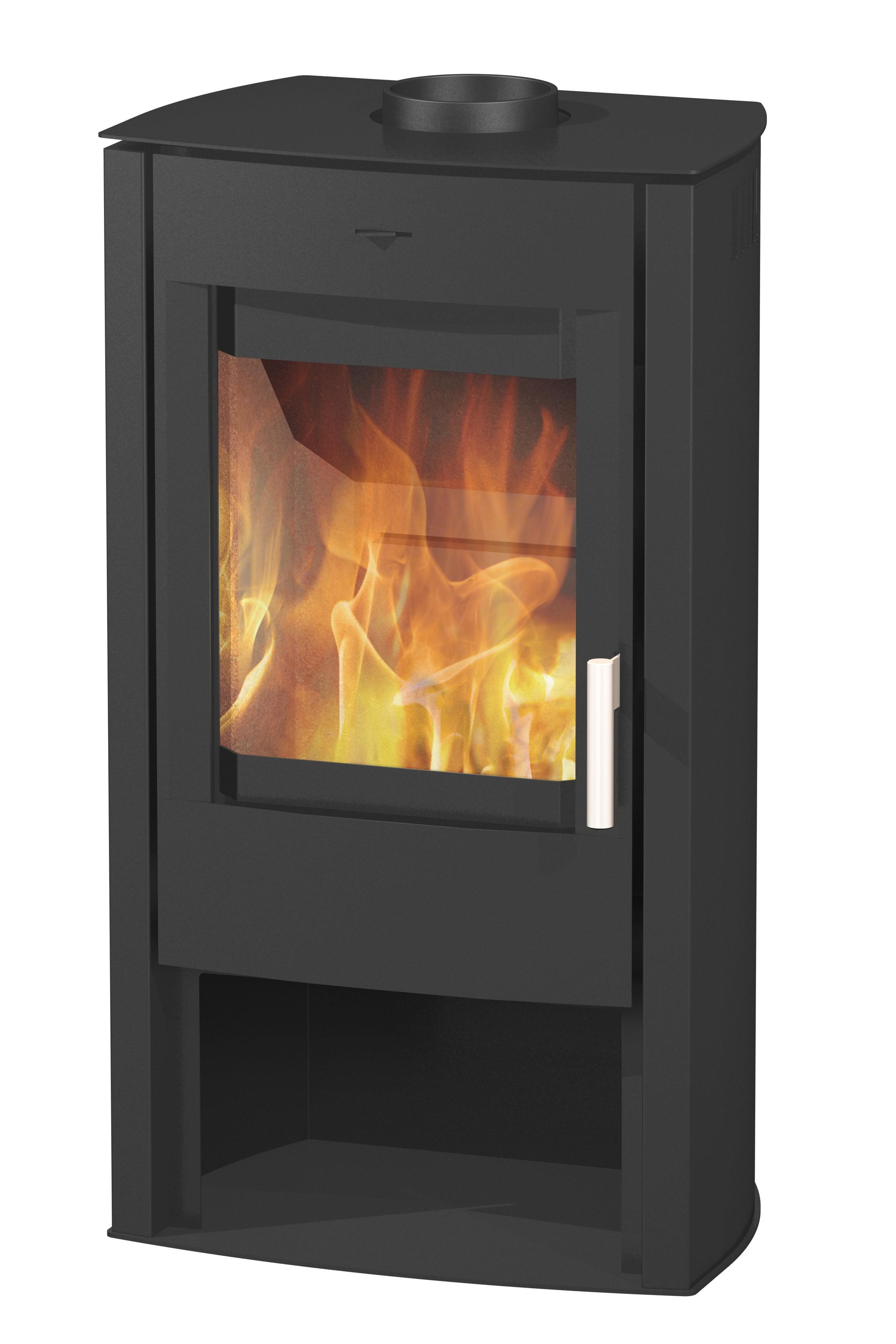 kaminofen fireplace tuvalu stahl schwarz 6kw bei. Black Bedroom Furniture Sets. Home Design Ideas