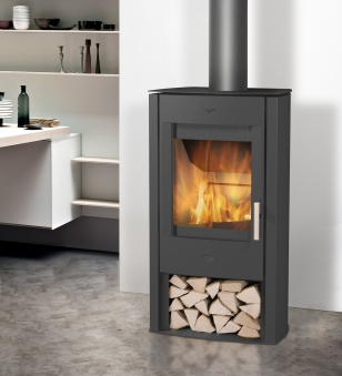 Kaminofen Fireplace Tuvalu Stahl schwarz 6kW Bild 2