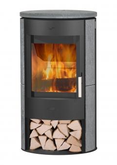 Kaminofen Fireplace Zaria schwarz Speckstein 6kW Bild 1