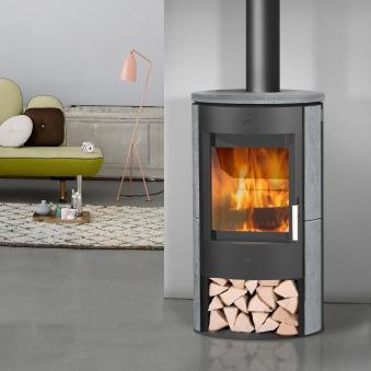 Kaminofen Fireplace Zaria schwarz Speckstein 6kW Bild 2