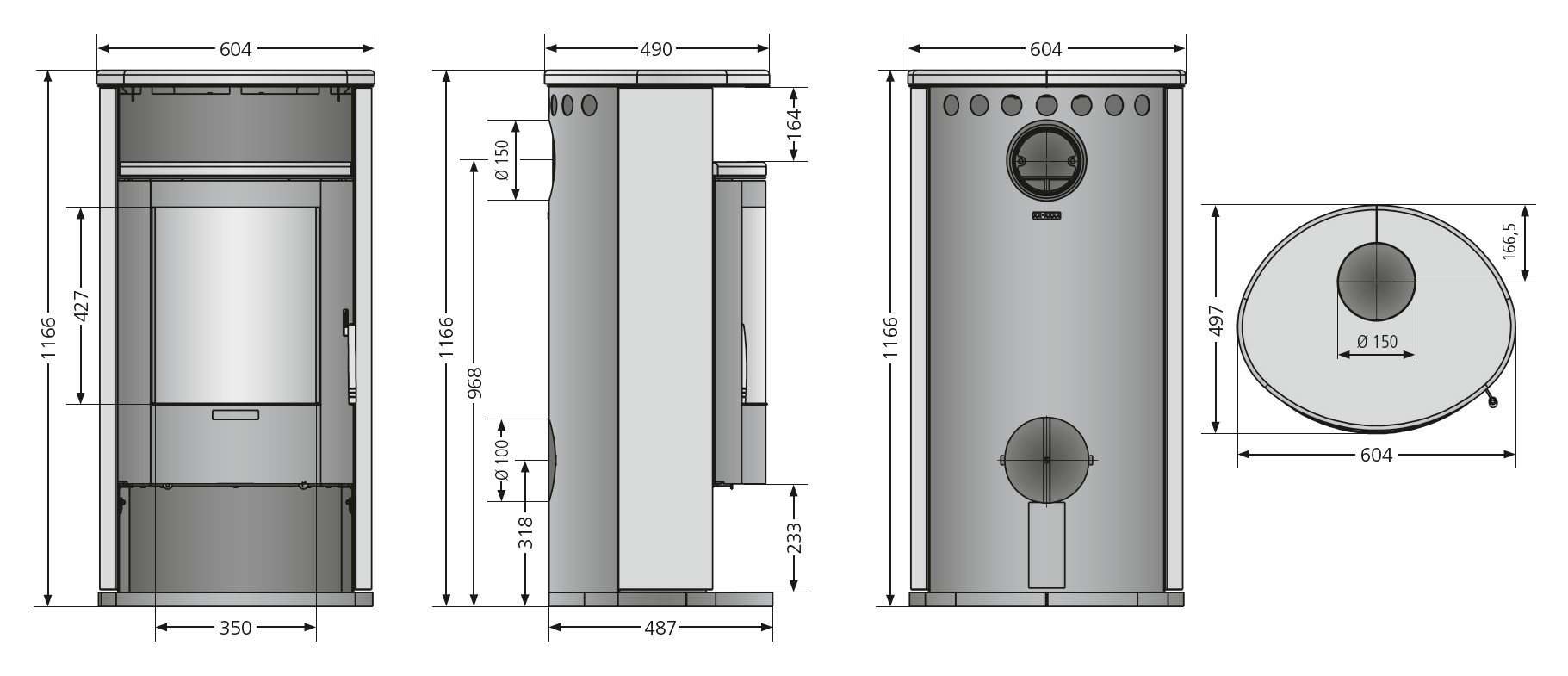 Kaminofen Justus Island 7 raumluftunabhängig Keramik Freddo 6,5kW Bild 2