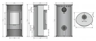 Kaminofen Justus Island 7 raumluftunabhängig Keramik Grappa 6,5kW Bild 2