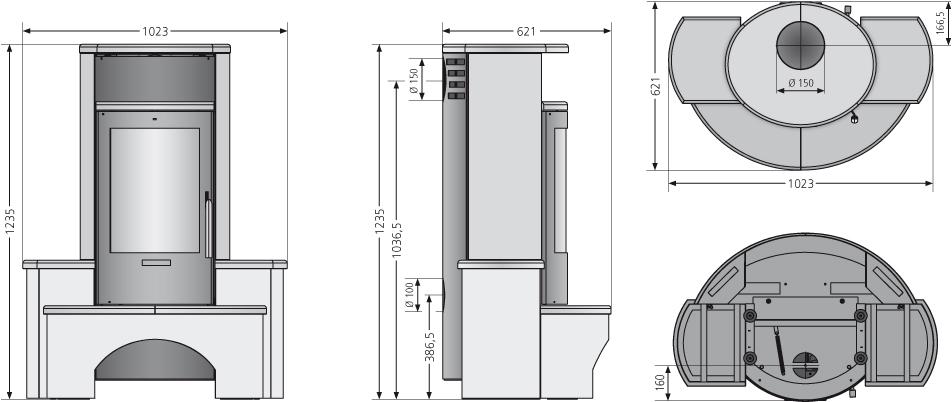 Kaminofen Justus Kaskade 2.0 raumluftunabh. Namib 6,5 kW Bild 3