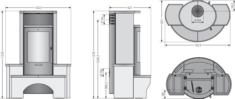 Kaminofen Justus Kaskade 2.0 raumluftunabh. Speckstein 6,5 kW Bild 2