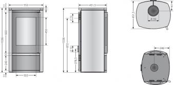 Kaminofen Justus Reno R raumluftunabhä. DIBt Sandstein Dauerbrand 6 kW Bild 2