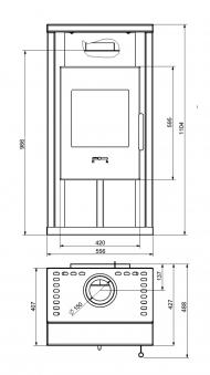 Kaminofen Wamsler Nino gussgrau 6kW Typ 10843 Bild 2
