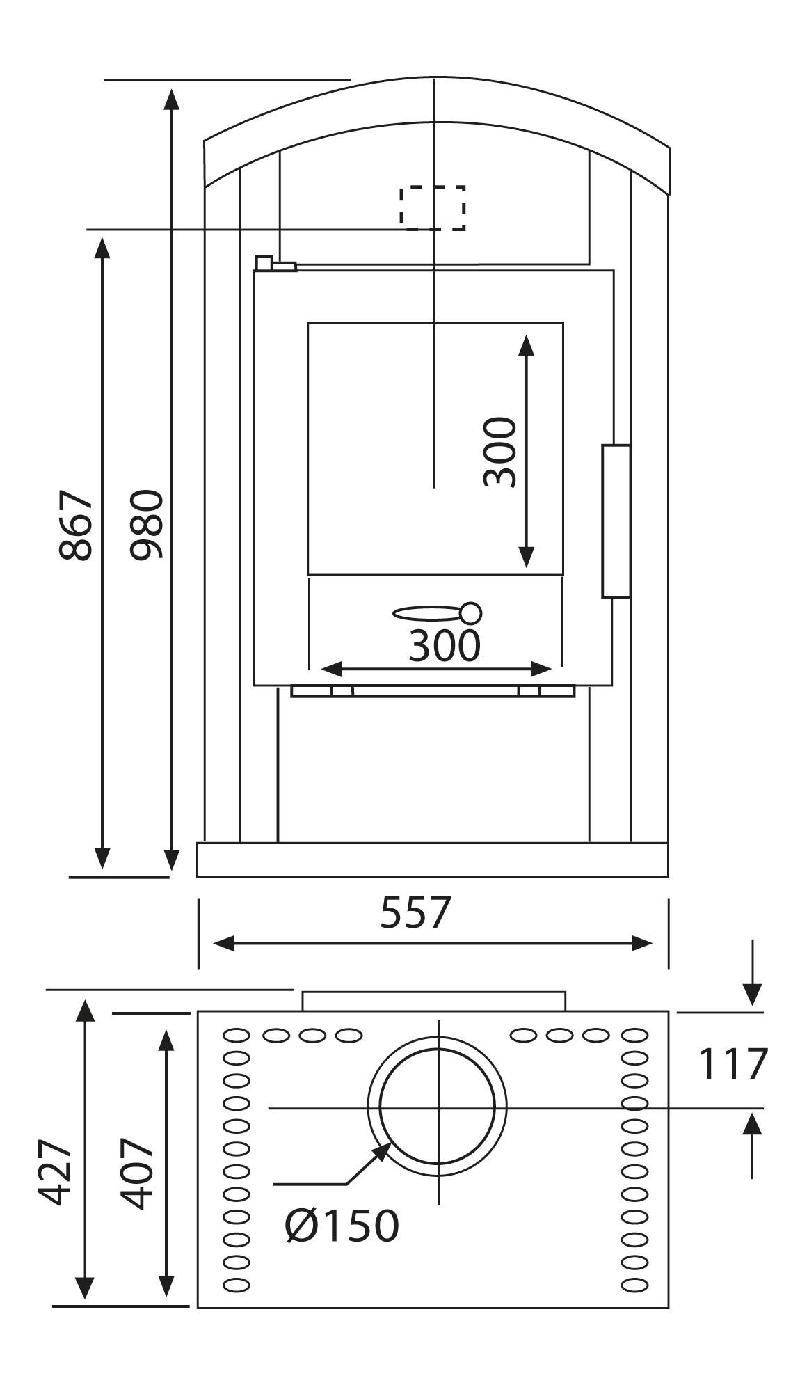 Kaminofen Wamsler Saturn Naturstein 6 kW Typ 10862 Bild 3