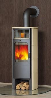 Kaminofen / Dauerbrandofen Hark Opera-B Grande Keramik creme 7 kW Bild 1