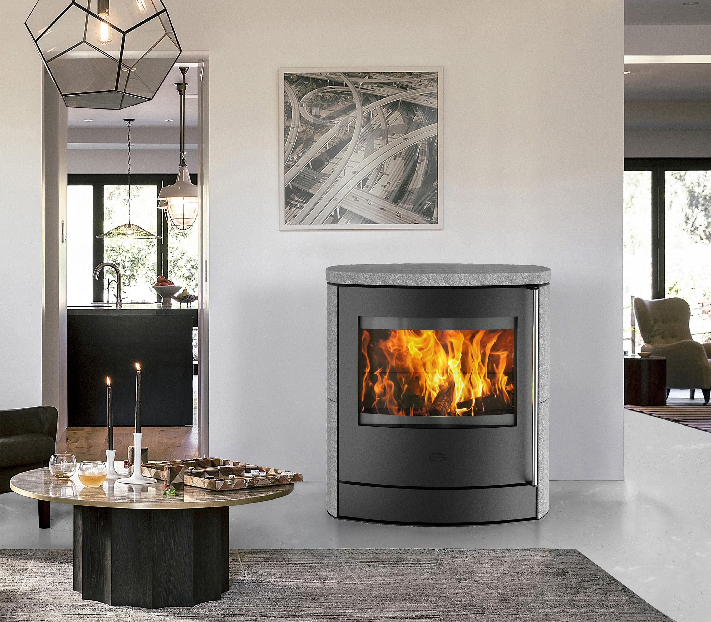 Kaminofen Fireplace Adamis raumluftunabhängig Speckstein 7kW Bild 4