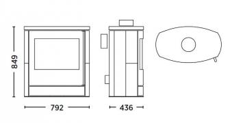 Kaminofen Fireplace Adamis raumluftunabhängig Speckstein 7kW Bild 3