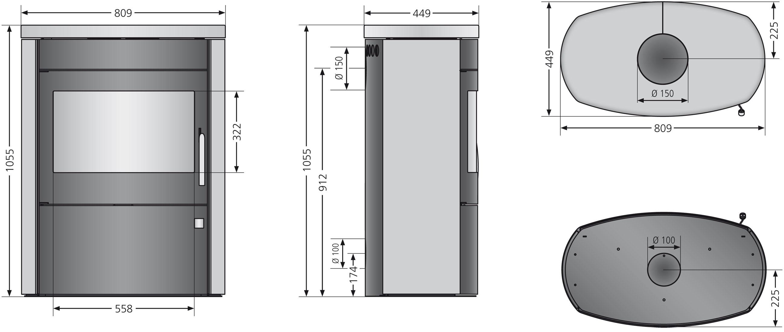 Kaminofen Justus Agero 2.0 raumluftunabhängig Stahl schwarz 7kW Bild 4