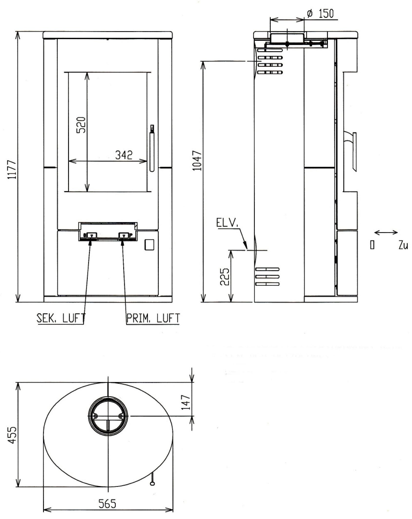Kaminofen Justus Austin 7 raumluftunabhängig Stahl schwarz 7kW Bild 2