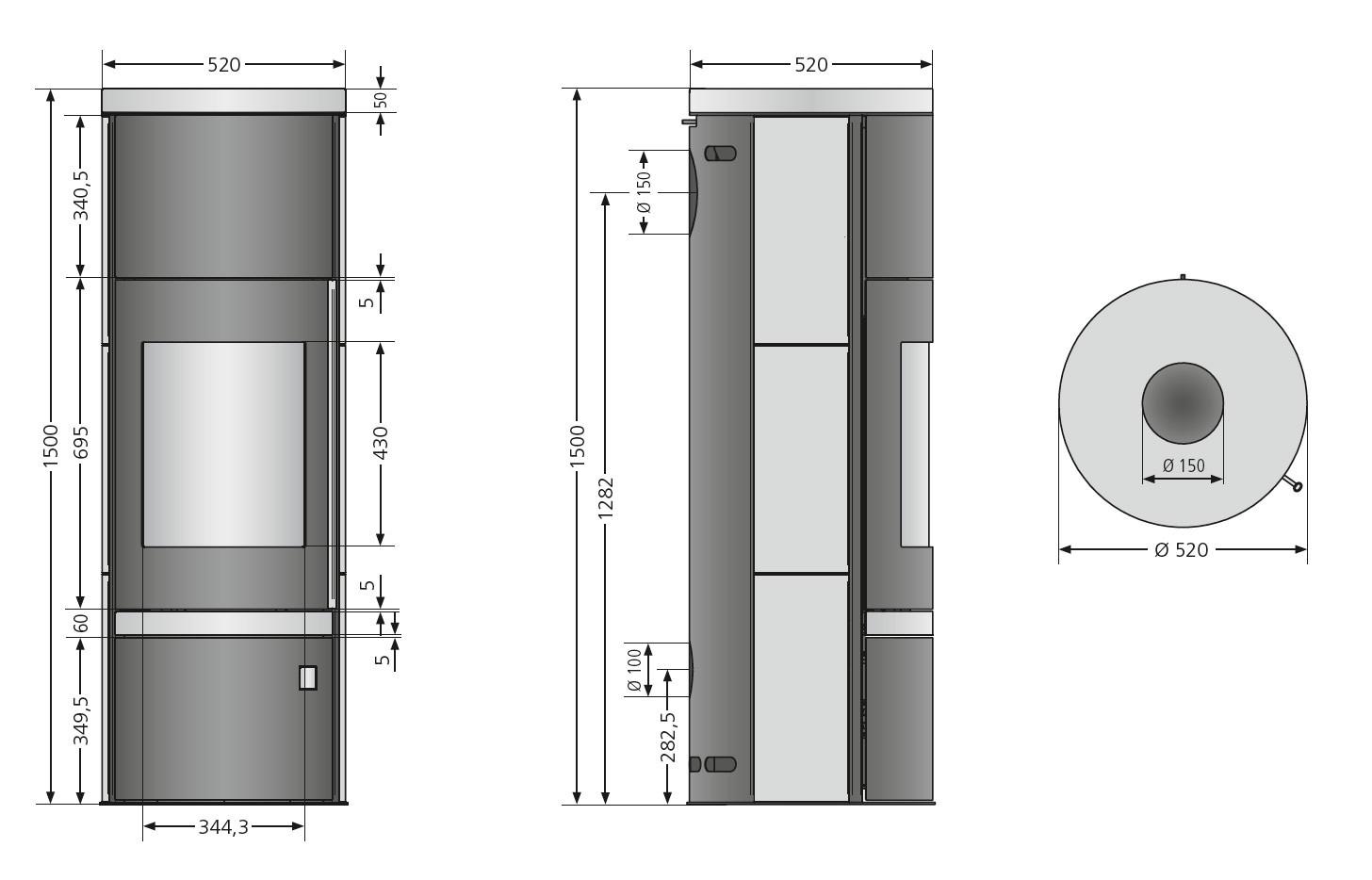 kaminofen justus faro w raumluftunabh ngig schwarz stahl 7 kw bei. Black Bedroom Furniture Sets. Home Design Ideas