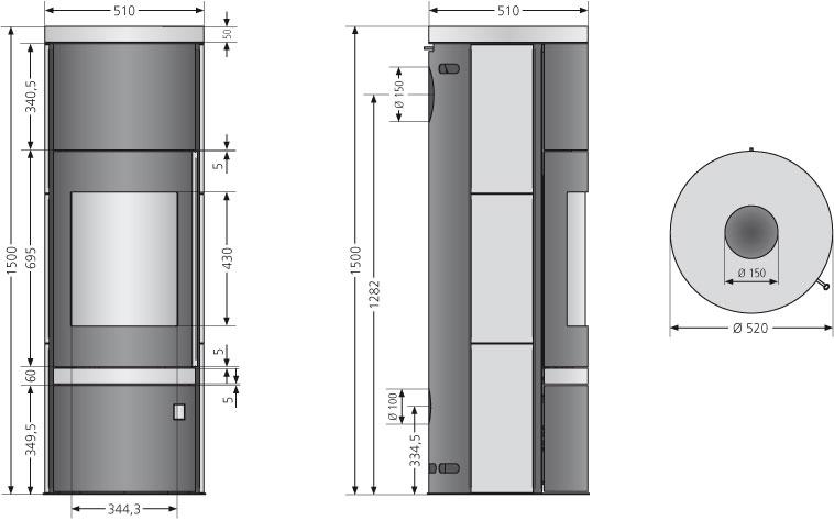 kaminofen justus faro plus raumluftunabh schwarz sandstein 7kw bei. Black Bedroom Furniture Sets. Home Design Ideas
