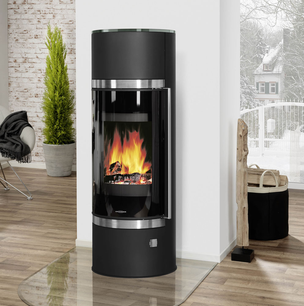 kaminofen oranier arena w raumluftunabh ngig schwarz glas. Black Bedroom Furniture Sets. Home Design Ideas