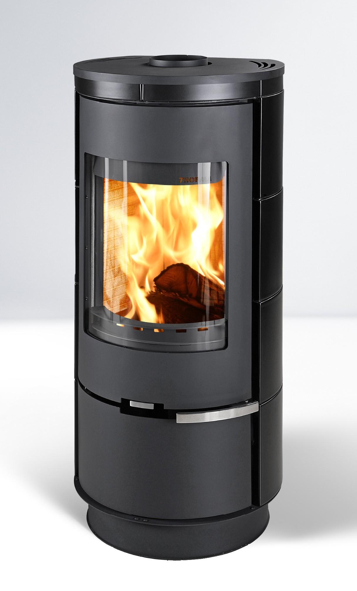 Kaminofen Thorma Andorra Keramik raumluftunabhängig schwarz 7,5 kW Bild 1