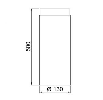 Ofenrohr / Rauchrohr Senotherm schwarz Ø130 mm Länge 500 mm