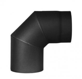 Ofenrohr Bogenknie Spezial 90° Ø 150mm schwarz Haas+Sohn