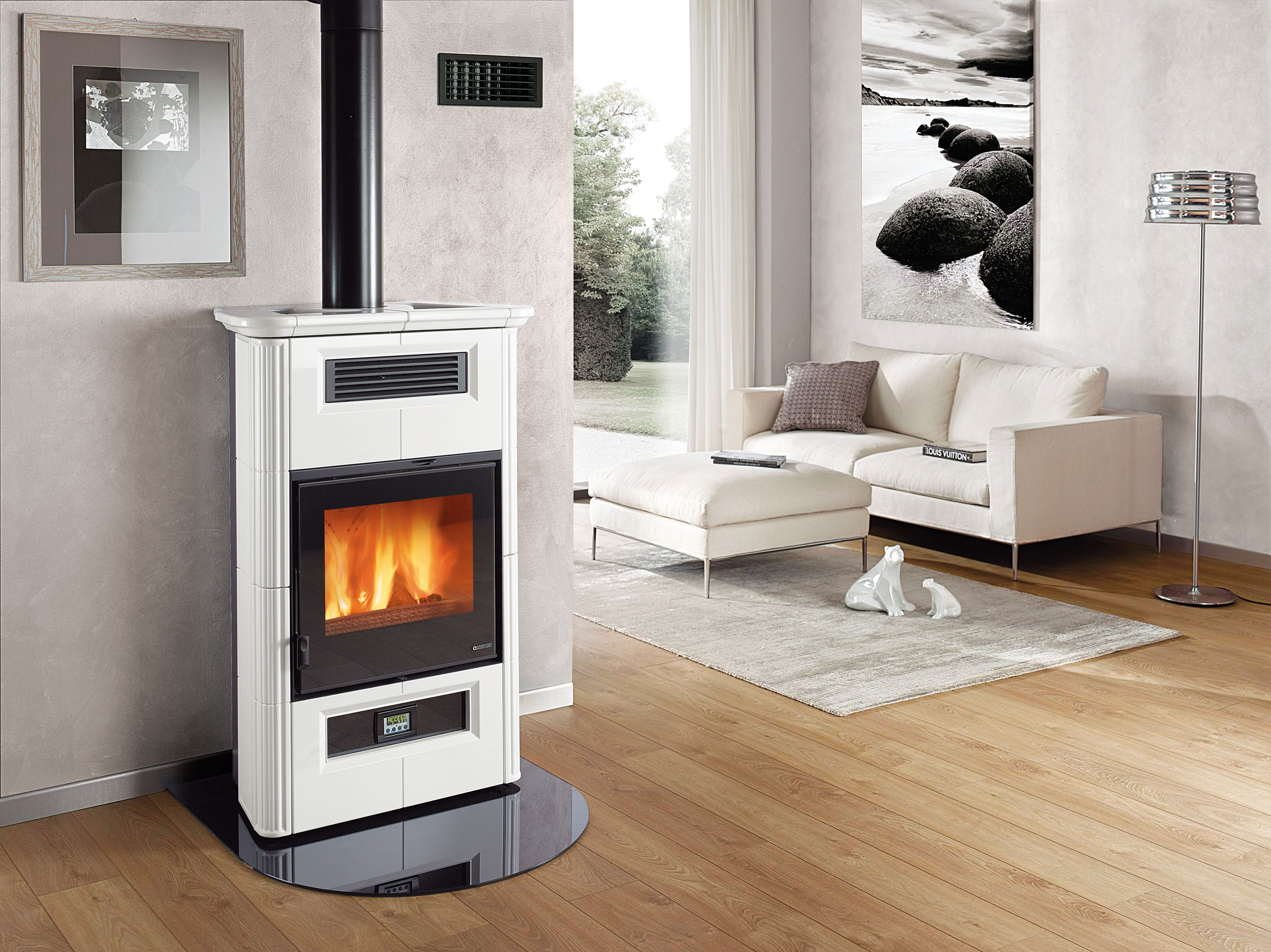 kaminofen la nordica wanda classic raumluftunabh ngig wei. Black Bedroom Furniture Sets. Home Design Ideas