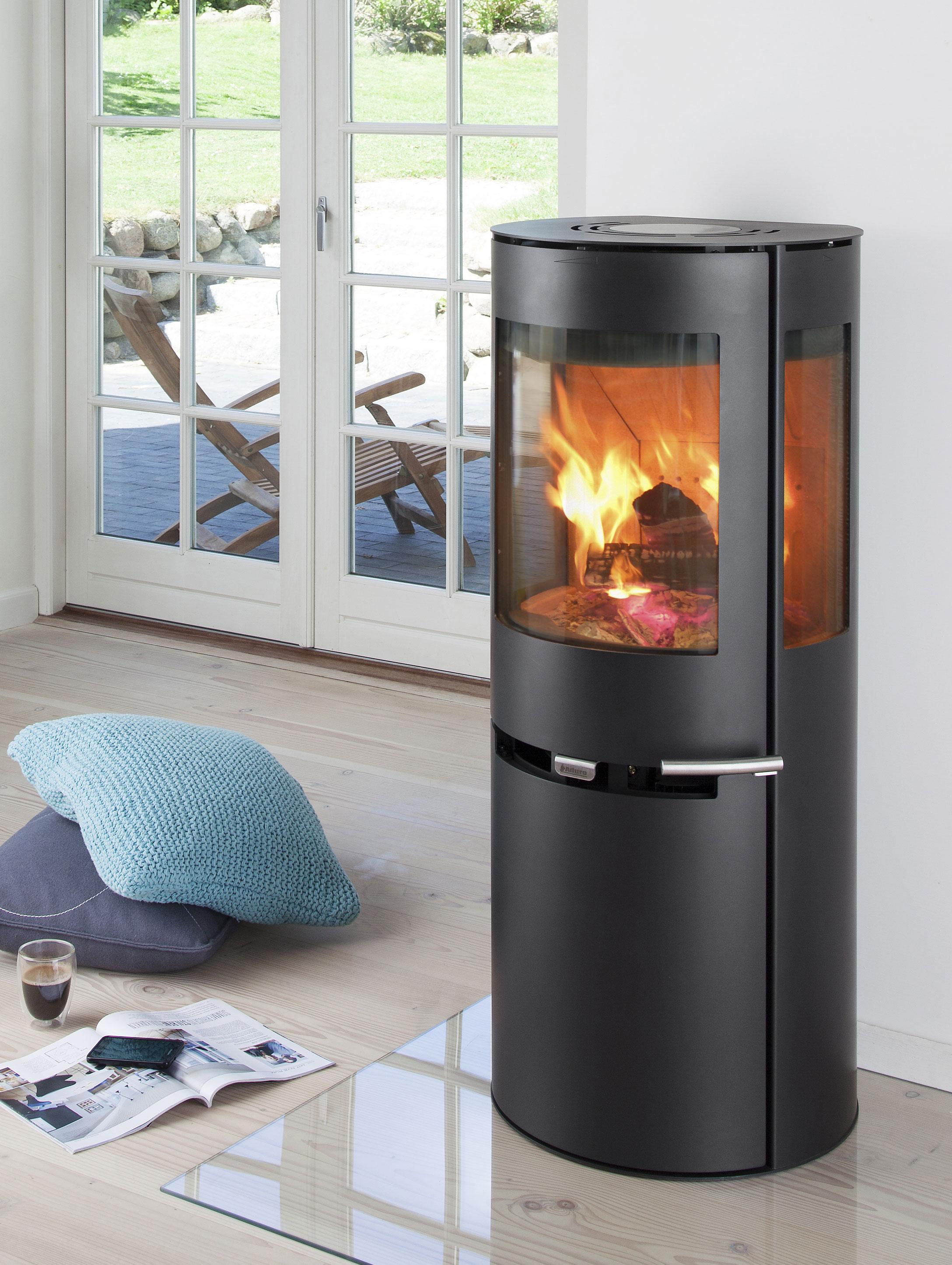 kaminofen aduro 9 5 schwarz stahl 3 scheiben 6 kw bei. Black Bedroom Furniture Sets. Home Design Ideas